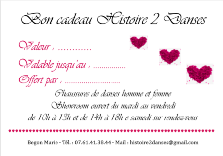 Bon Cadeau Saint-Valentin
